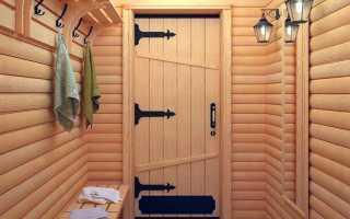 Установка банной двери