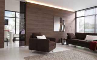 Ламинат на стене: особенности использования в интерьере
