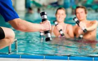 Упражнения для пресса в бассейне
