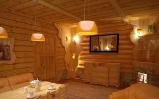 Отделка комнаты отдыха в бане