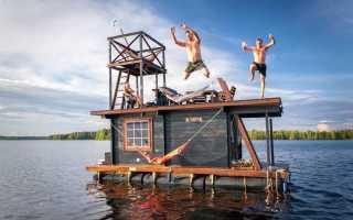 Плавучая баня – ключевые особенности возведения