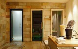 Размеры двери в баню