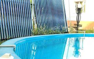 Солнечный водонагреватель для бассейна