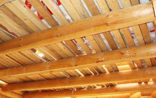 Черновой потолок по деревянным балкам: варианты исполнения