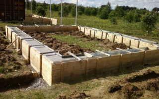 Фундамент для бани из бруса