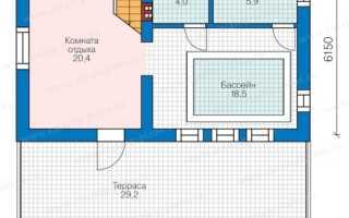 Проекты бань с бассейном: подборка разных вариантов