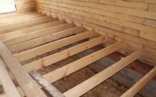 Размер лаг для деревянного пола
