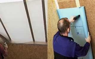 Какой стороной стелить пароизоляцию на потолок