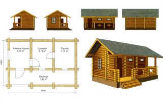 Типовые проекты бань: выбираем стандартную планировку постройки