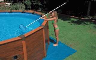 Очистка бассейна на даче