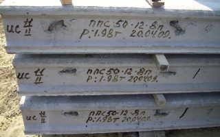Характеристики плит перекрытия ПК