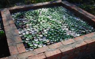 Баня из бутылок – свежая идея для обустройства банной постройки
